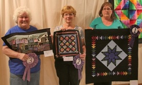 2014 Challenge Winners from left to right · Third place Carol Olinick · Second place Gail Forster  ·  First place Beth Quigley
